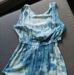Tie Dye Romper NWT Blue and White L